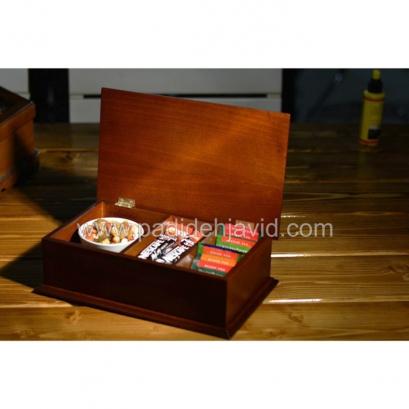 جعبه پذیرایی تبلیغاتی چوبی 708