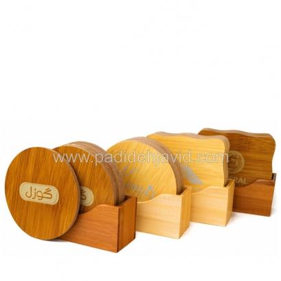 زیرلیوانی چوبی Bamboo